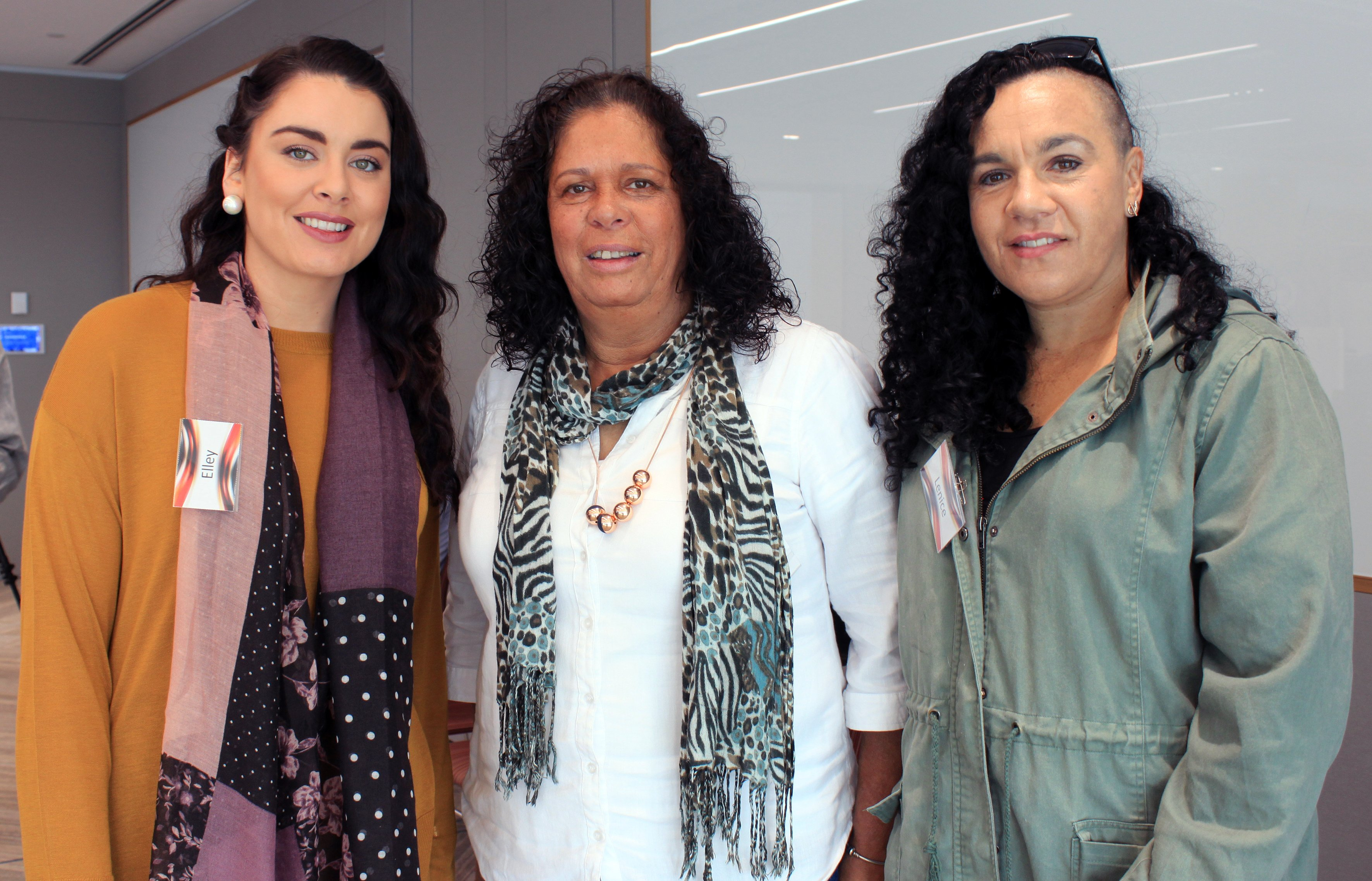 Elley Gray, Lila Steward & Lenice Husband (Myimbarr - Illawarra Aboriginal Corporation).