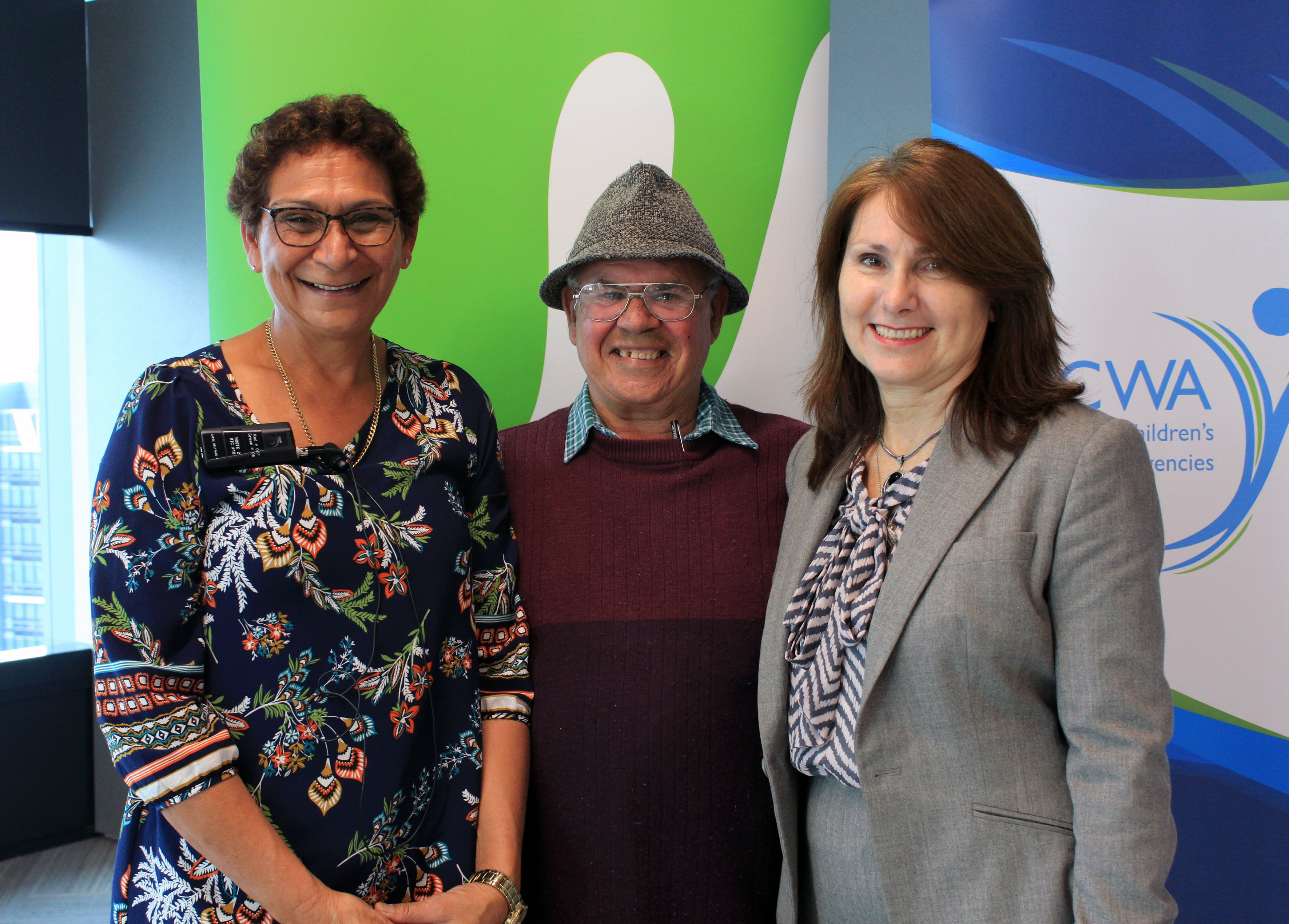 Marcia Ella-Duncan, Michael Welsh (Kinchela Boys Home Aboriginal Corporation) & ACWA Deputy CEO Wendy Foote.