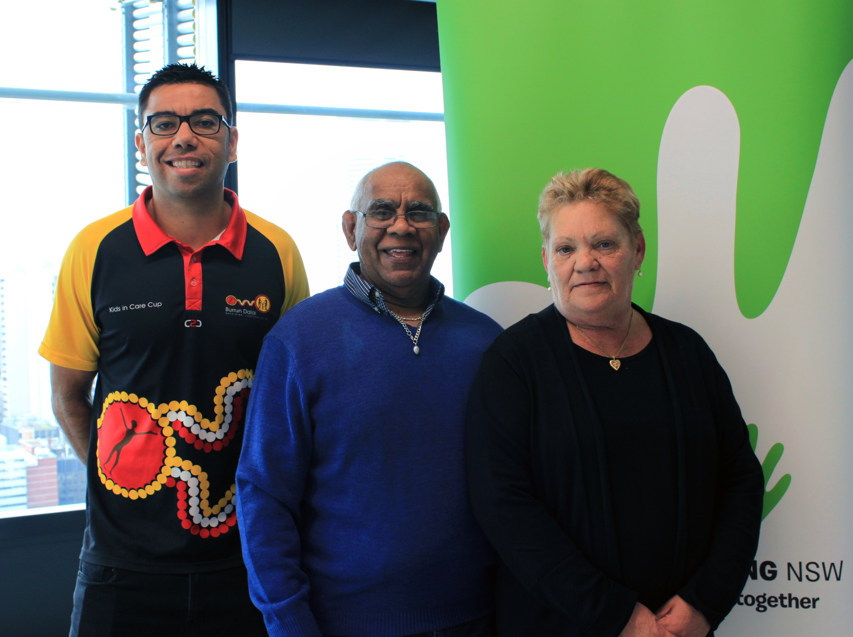 Warren Ahoy (Burrun Dalai Aboriginal Corporation) & foster carers Eddie & Rose Vale.